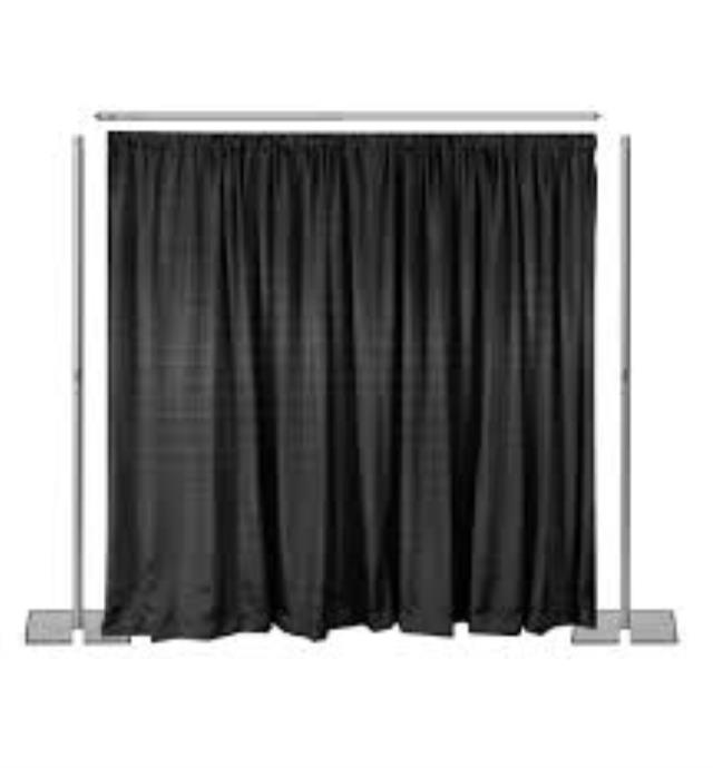 Where to find PIPE   DRAPE, 8  TALL x 6 -10  WIDE in Raleigh