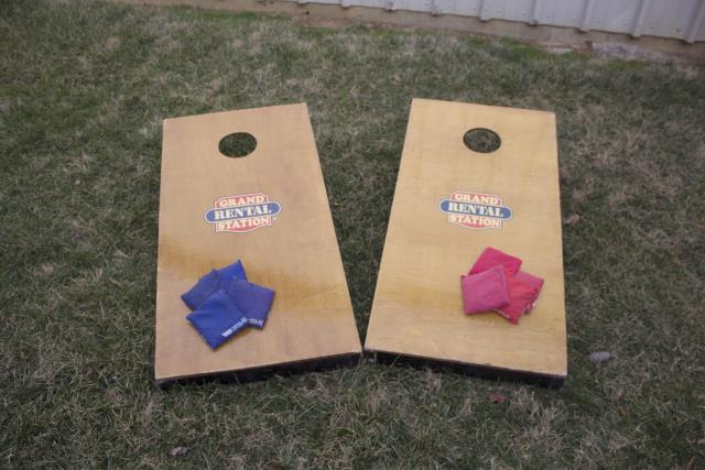 Where to find CORN HOLE BOARD SET in Raleigh