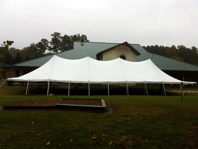 Where to find 40 x 100 POLE TENT, WHITE-EU in Cary