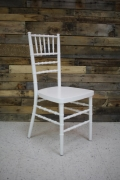 Where to rent CHAIR, WHITE CHIAVARI NO PAD in Cary NC