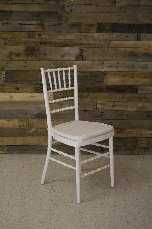 Where to find CHAIR, WHITE CHIAVARI WITH PAD in Cary