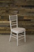 Where to rent CHAIR, WHITE CHIAVARI WITH PAD in Cary NC