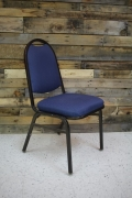 Where to rent CHAIR, BLUE PADDED SEAT   BACK in Cary NC