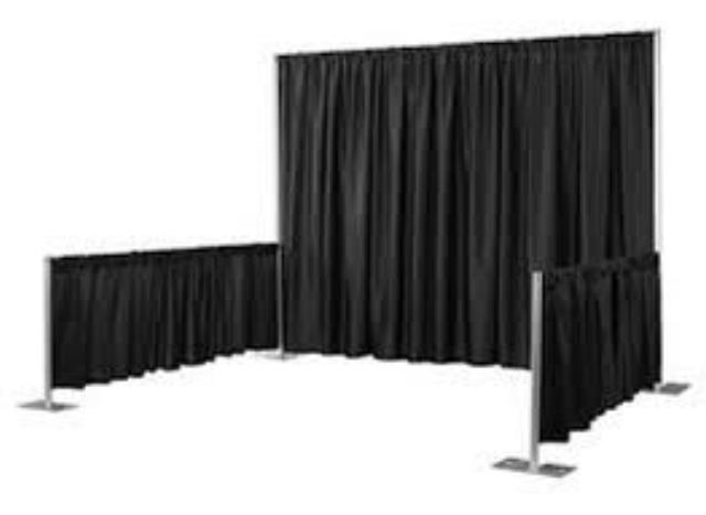 Where to find PIPE   DRAPE, 3  TALL x 6 -10  LONG in Raleigh