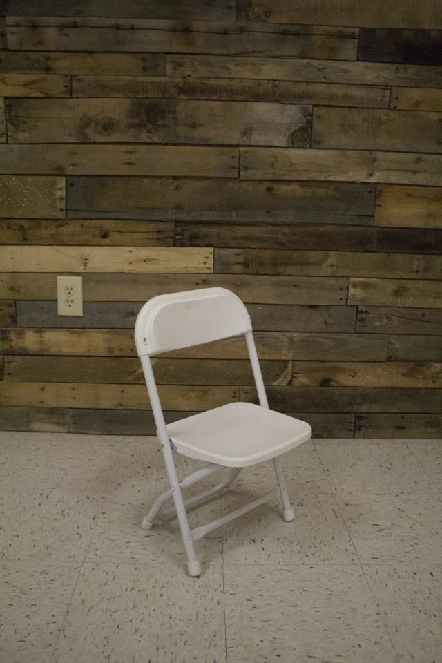 Where to find CHAIR, CHILDREN - WHITE FOLDING in Raleigh