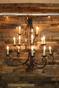 Where to rent TENT CHANDELIER, BRONZE 15 LIGHT in Cary NC