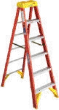 Where to rent LADDER, 8  STEP, FIBERGLASS in Cary NC