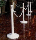 Where to rent STANCHIONS, WHITE in Cary NC