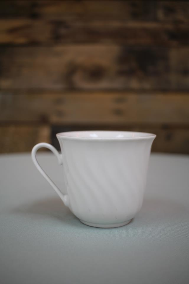 Where to find CHINA, WH. SWIRL COFFEE CUP in Raleigh