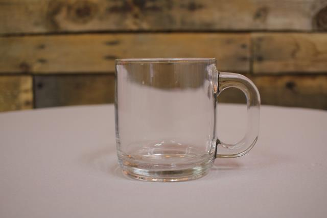 Where to find COFFEE MUG, GLASS  16 in Raleigh